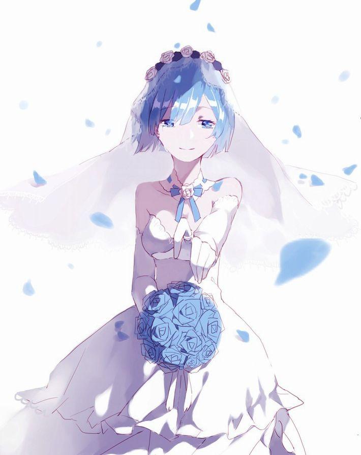 【夜はきっと・・・】純白のウェディングドレスを着た新婚ホヤホヤな二次エロ画像【15】