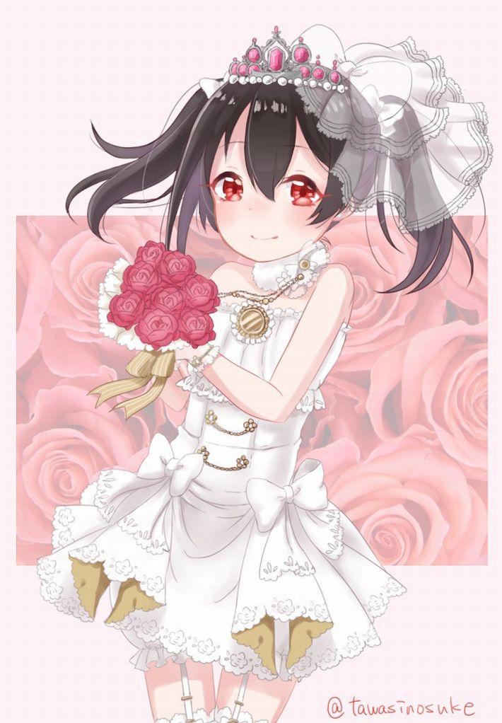 【夜はきっと・・・】純白のウェディングドレスを着た新婚ホヤホヤな二次エロ画像【22】