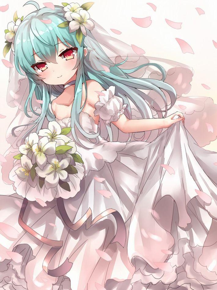 【夜はきっと・・・】純白のウェディングドレスを着た新婚ホヤホヤな二次エロ画像【32】