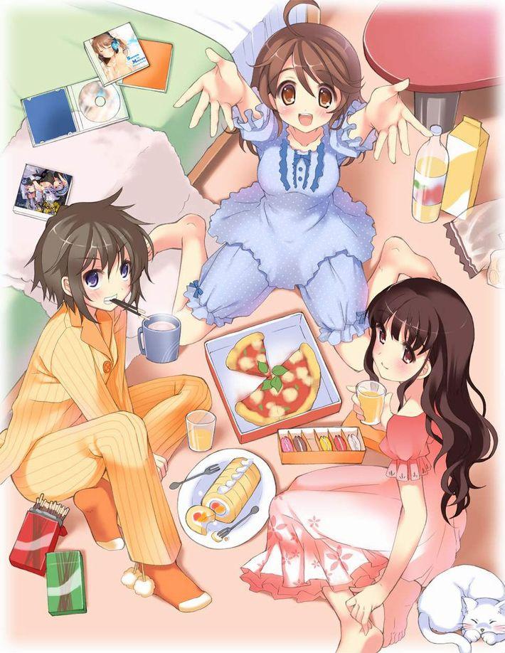 【楽しい食卓】友達同士で仲良くご飯食べてる二次画像【9】