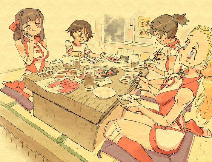 【楽しい食卓】友達同士で仲良くご飯食べてる二次画像【14】