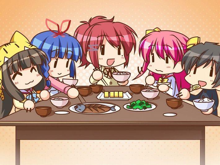 【楽しい食卓】友達同士で仲良くご飯食べてる二次画像【25】