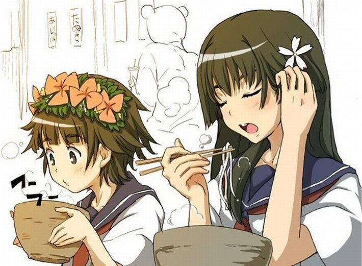 【楽しい食卓】友達同士で仲良くご飯食べてる二次画像【44】
