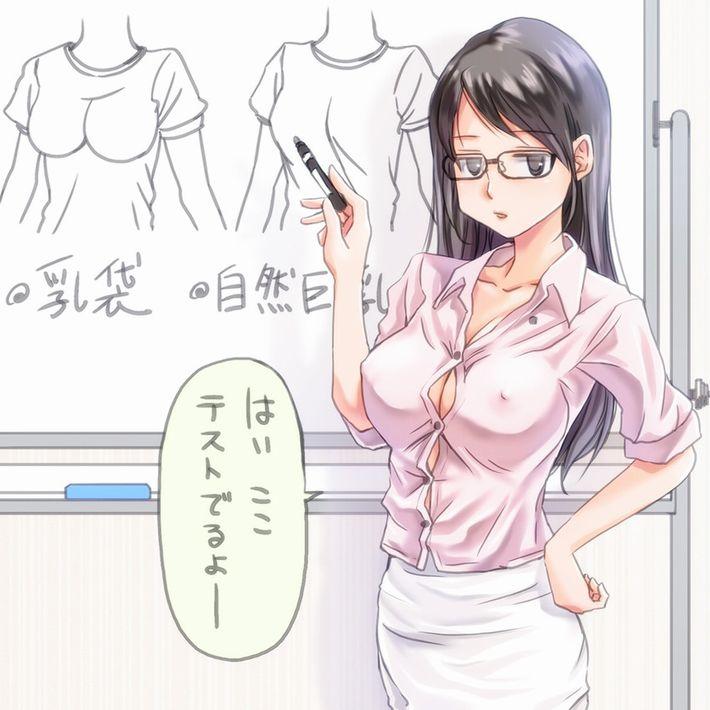 【安直だけど】メガネをかけた賢そうな女教師の二次エロ画像【7】