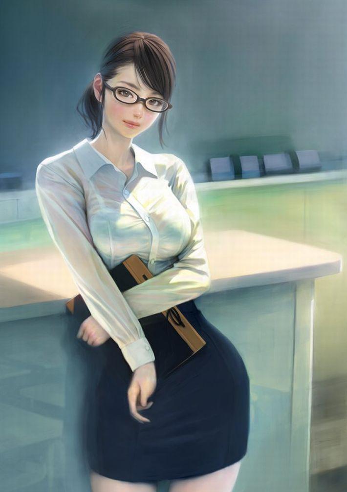 【安直だけど】メガネをかけた賢そうな女教師の二次エロ画像【31】