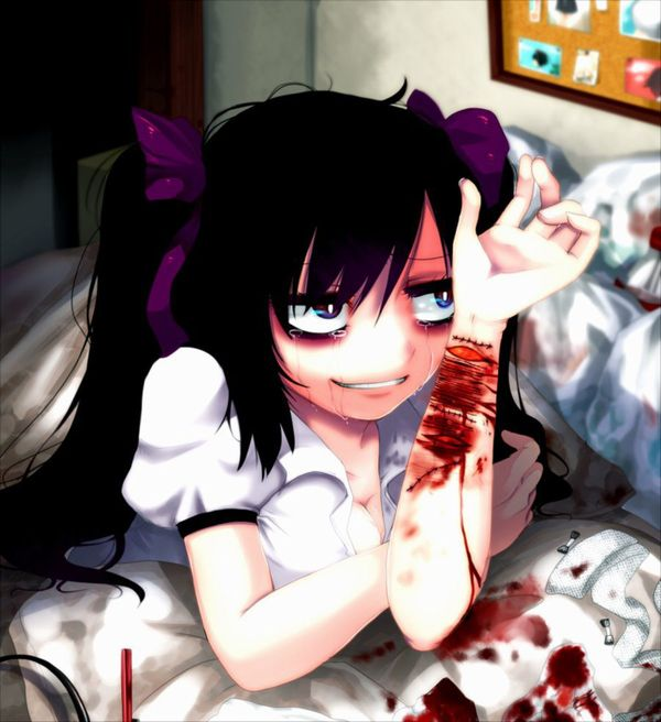 【閲覧注意】「もぅマヂ無理。リスカしょ・・・」手首切ってるメンヘラ女子の二次画像【18】