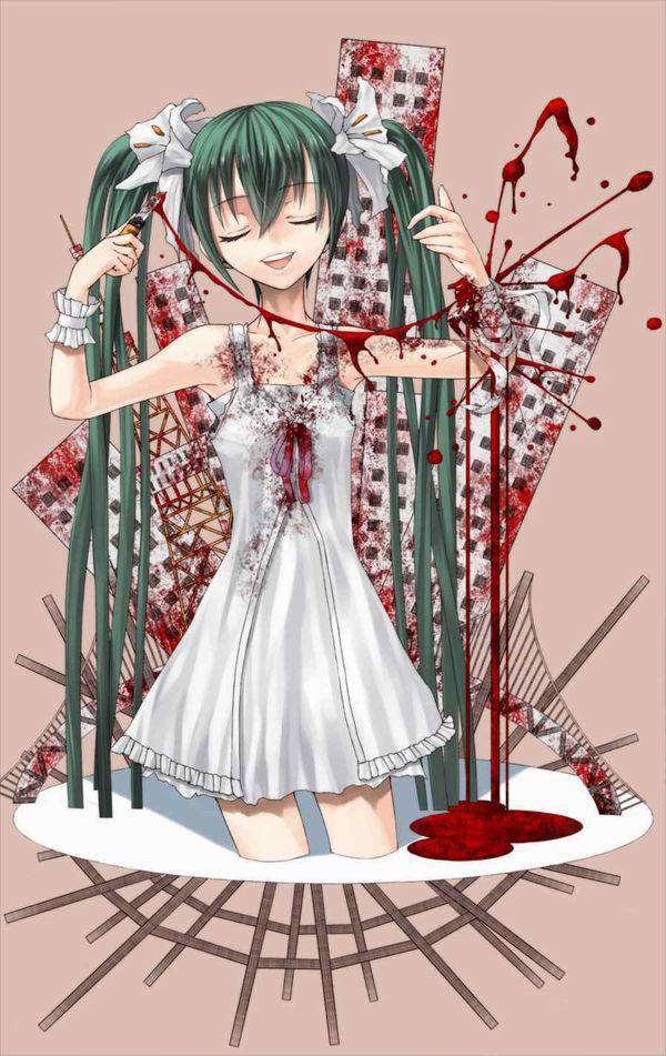 【閲覧注意】「もぅマヂ無理。リスカしょ・・・」手首切ってるメンヘラ女子の二次画像【20】