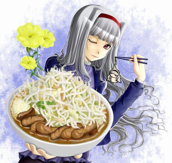 【二次】女の子がラーメン二郎食ってる画像【全マシマシ】【21】