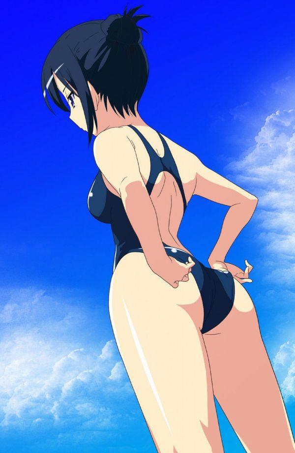 競泳水着の魅力って尻だよね?って二次エロ画像【45】