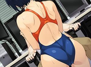 競泳水着の魅力って尻だよね?って二次エロ画像