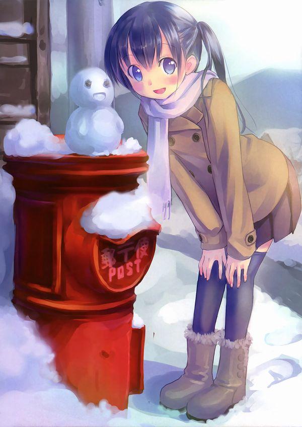 【冬の風物詩】雪だるま作ってる女子達の二次画像【4】