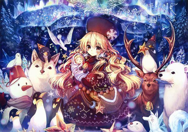 【冬の風物詩】雪だるま作ってる女子達の二次画像【10】