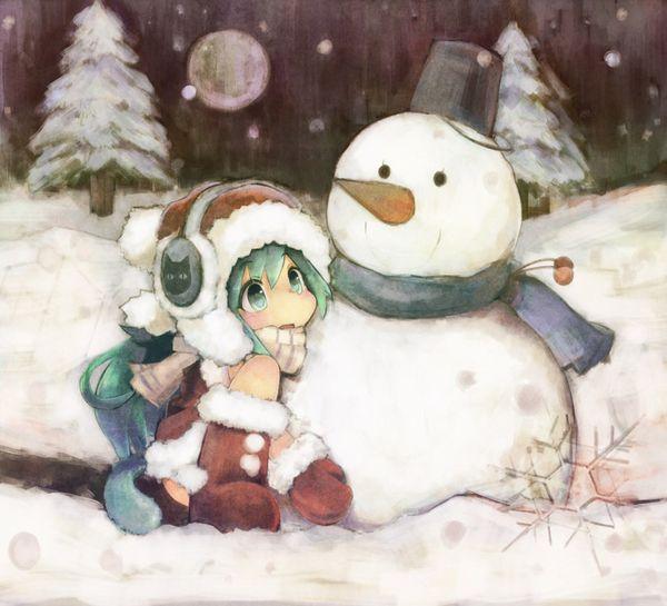 【冬の風物詩】雪だるま作ってる女子達の二次画像【12】