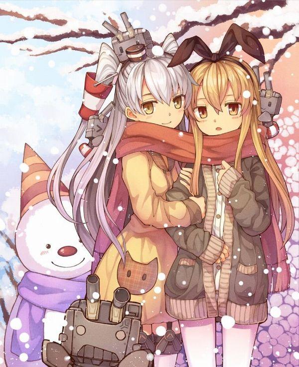 【冬の風物詩】雪だるま作ってる女子達の二次画像【15】