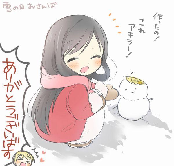 【冬の風物詩】雪だるま作ってる女子達の二次画像【17】