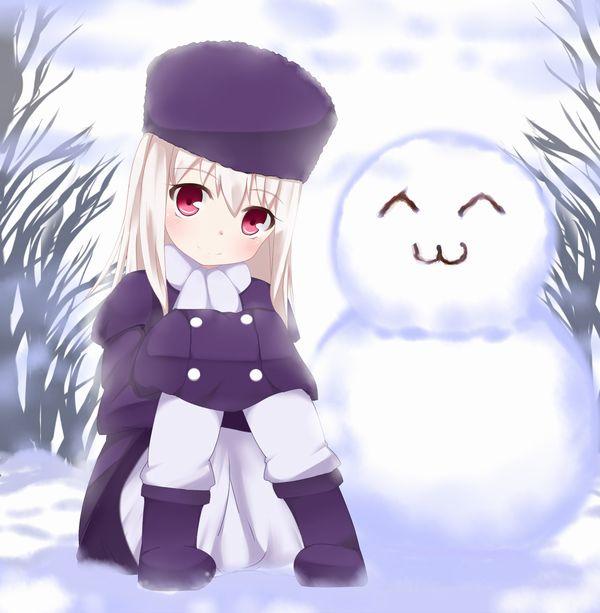 【冬の風物詩】雪だるま作ってる女子達の二次画像【27】
