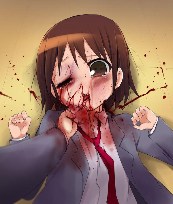 【閲覧注意】顔面ブン殴られて鼻血出してる悲惨な女子の二次リョナ画像【12】