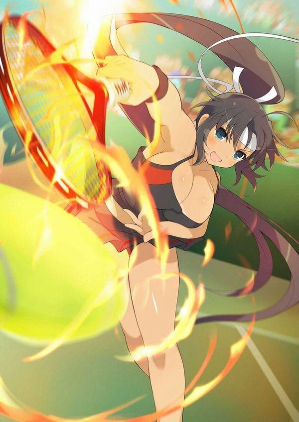 【お約束】ペニスが思わず反応するテニス美少女の二次画像【6】