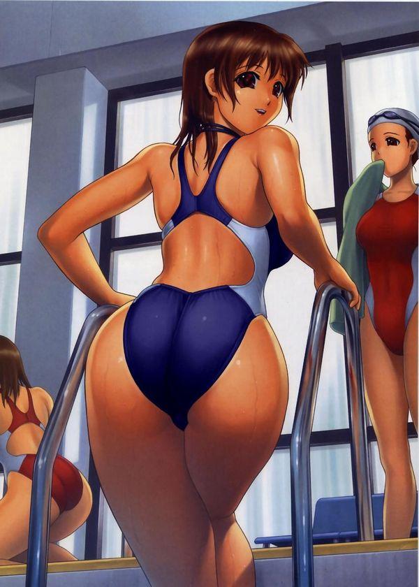 【パツンパツン】巨乳の子が競泳水着着るとこんなにもエロい・・・って二次エロ画像【8】