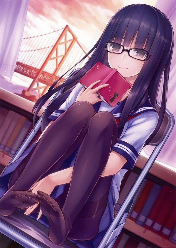 【非エロ】メガネの美少女が本を読んでる二次画像【8】