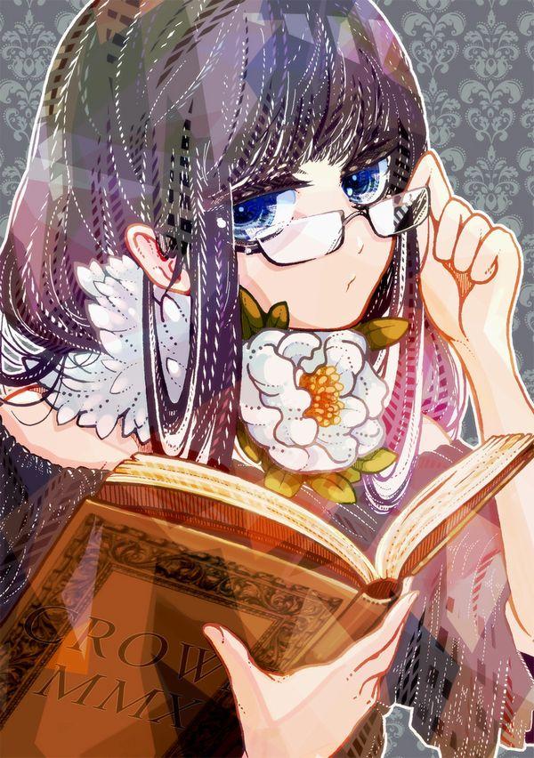 【非エロ】メガネの美少女が本を読んでる二次画像【16】