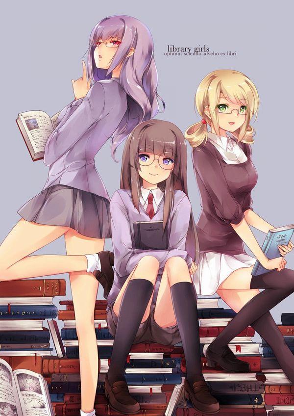 【非エロ】メガネの美少女が本を読んでる二次画像【43】