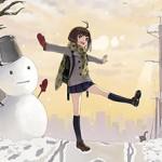 【冬の風物詩】雪だるま作ってる女子達の二次画像