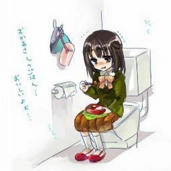 【閲覧微注意】便所飯してる二次画像【9】