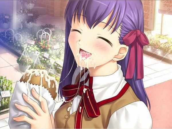【食ザー】ザーメンぶっかけた食べ物を美味しそうに食べてる二次画像【9】