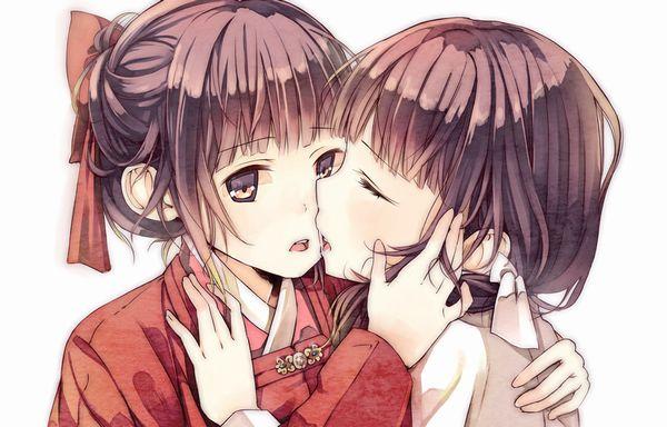【記念すべき一歩】女の子同士でキスしてるレズキス二次画像【5】