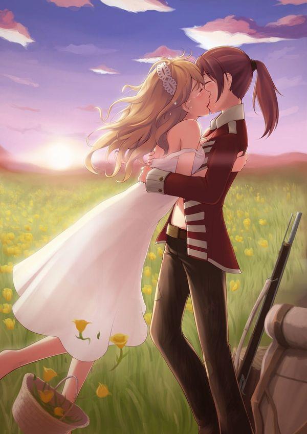 【記念すべき一歩】女の子同士でキスしてるレズキス二次画像【9】