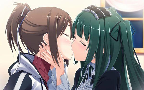 【記念すべき一歩】女の子同士でキスしてるレズキス二次画像【12】