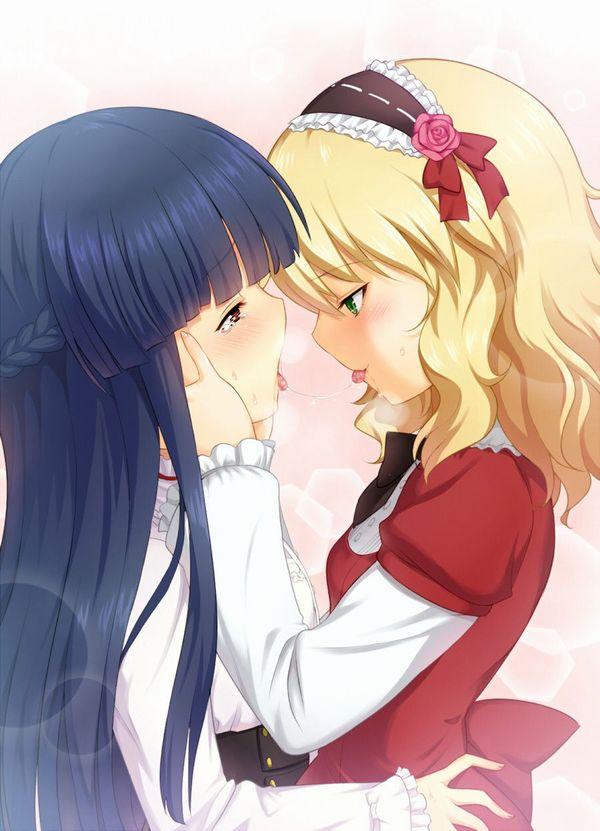 【記念すべき一歩】女の子同士でキスしてるレズキス二次画像【19】