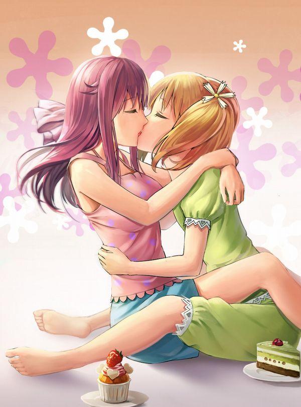 【記念すべき一歩】女の子同士でキスしてるレズキス二次画像【21】