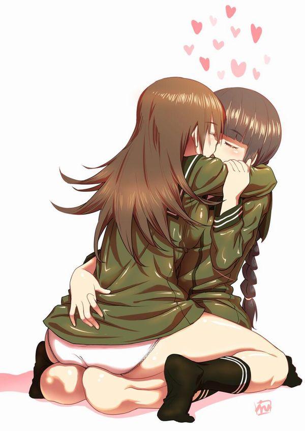 【記念すべき一歩】女の子同士でキスしてるレズキス二次画像【25】