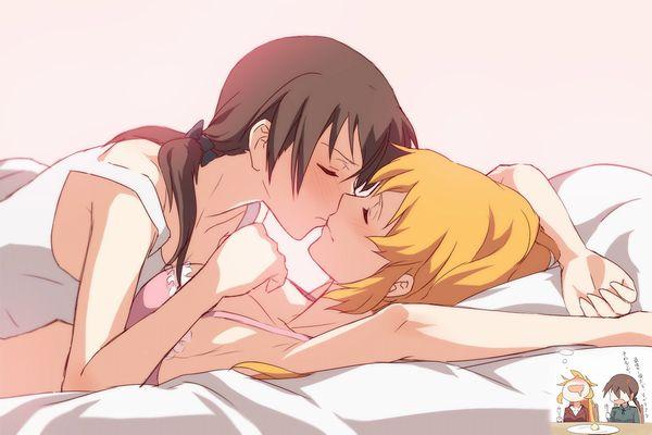 【記念すべき一歩】女の子同士でキスしてるレズキス二次画像【38】