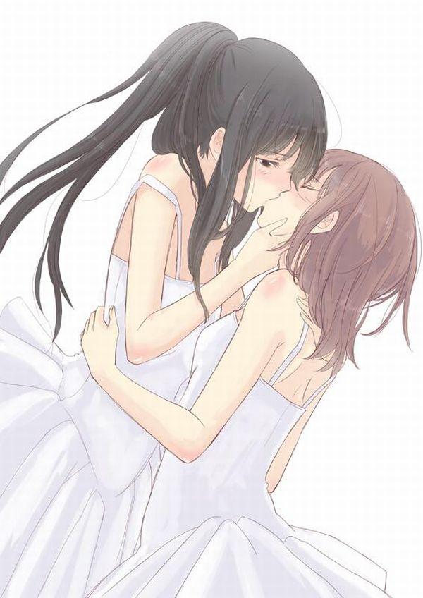 【記念すべき一歩】女の子同士でキスしてるレズキス二次画像【41】