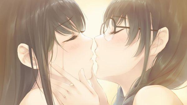 【記念すべき一歩】女の子同士でキスしてるレズキス二次画像【43】