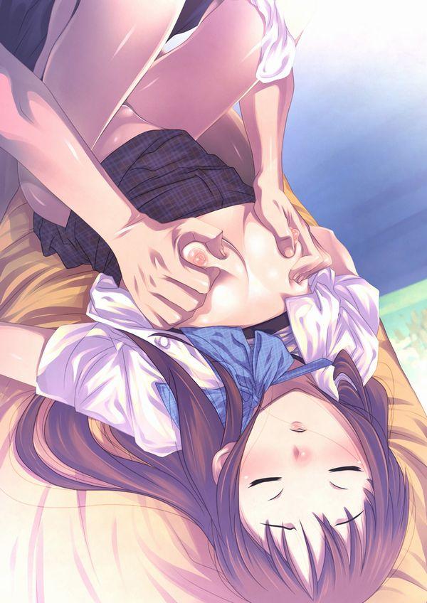 【眠姦二次エロ画像】寝てただけなのに・・・チンコ入れられちゃった女子【37】