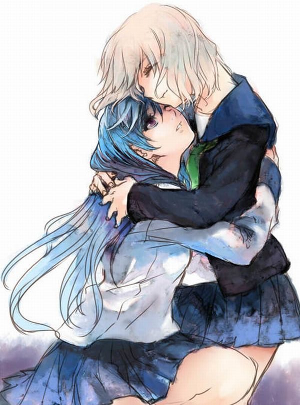 【ソフトレズ】抱き合ってる女子の二次エロ画像【45】