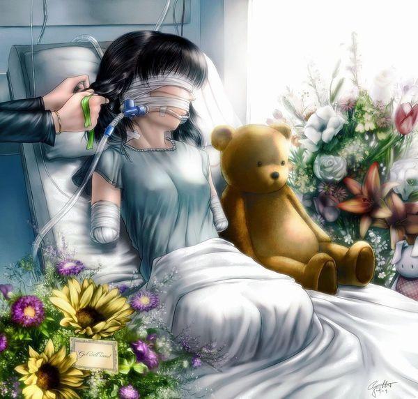 2016/04/20/c【病んでる】病弱そうな女子達が風邪引いたりして寝込んでる二次画像【6】