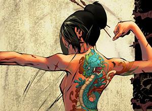 【タトゥー】ガッツリ和彫りが入った女子の二次エロ画像【いいえ刺青です】