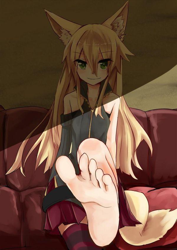 「舐めなさい」と足を突き出す女子達の二次エロ画像 【36】