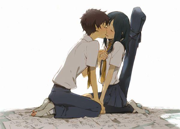 【キス】ベロチューしてるカップルの二次エロ画像 【1】