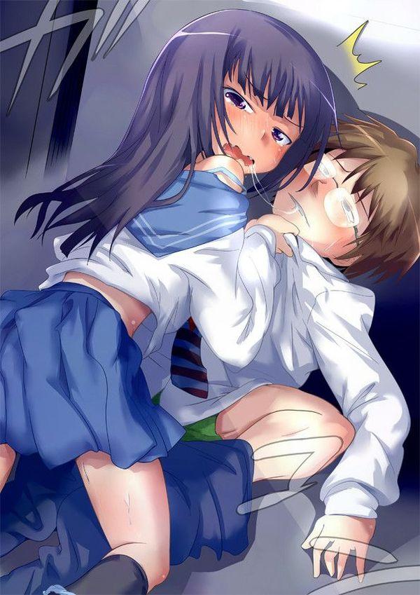 【キス】ベロチューしてるカップルの二次エロ画像 【2】