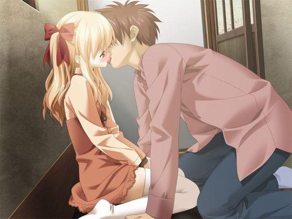 【キス】ベロチューしてるカップルの二次エロ画像 【7】