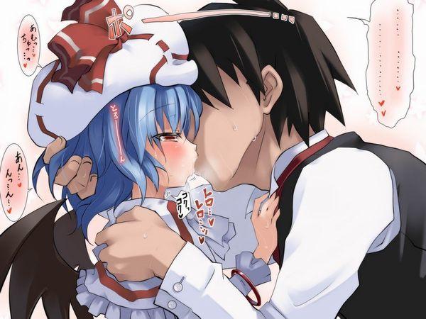 【キス】ベロチューしてるカップルの二次エロ画像 【20】