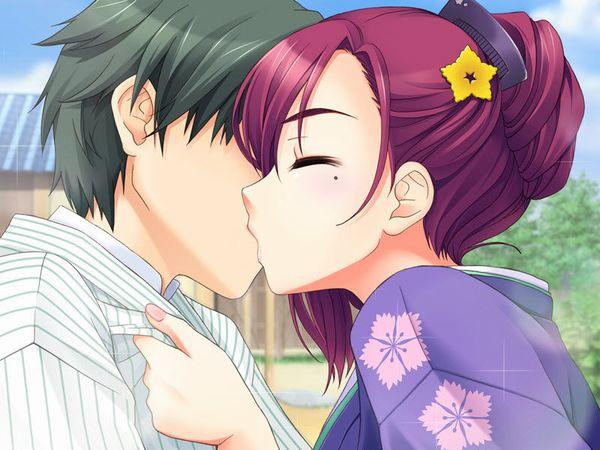 【キス】ベロチューしてるカップルの二次エロ画像 【27】
