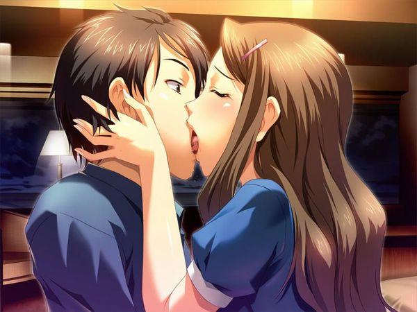 【キス】ベロチューしてるカップルの二次エロ画像 【37】