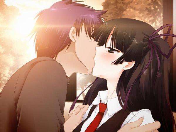 【キス】ベロチューしてるカップルの二次エロ画像 【38】